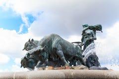 Gefion喷泉 免版税图库摄影
