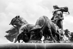 Gefion fountain in Copenhagen, Denmark. Royalty Free Stock Images