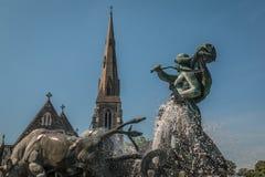 Gefion fountain. Copenhagen, Denmark. Stock Image