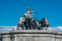 Gefion Fountain em Copenhaga Imagens de Stock Royalty Free