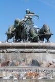 Gefion springbrunn arkivbild