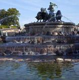Gefions-Brunnen in Kopenhagen lizenzfreies stockbild