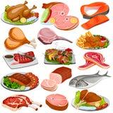 Geflügel-und Fleischware-Lebensmittel-Sammlung vektor abbildung
