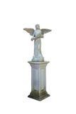 Geflügelte Engelsstatue lokalisiert auf weißem Hintergrund Lizenzfreies Stockfoto