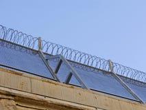 Gefängnis warb Draht Stockbilder