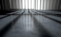 Gefängnis-Zellschatten Stockbild