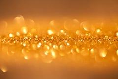 Gefonkelde achtergrond - gouden Kerstmis Royalty-vrije Stock Fotografie