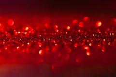 Gefonkelde rode achtergrond - Kerstmis Royalty-vrije Stock Fotografie