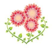 Geformte Blumenfamilie des Inneren vektor abbildung