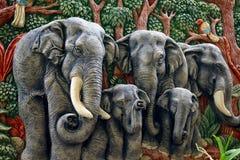 Geformte Elefantabbildung Stockbilder