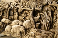 Geformte Elefantabbildung Lizenzfreies Stockfoto
