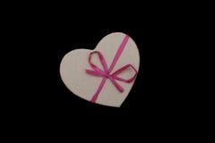 Geformte Geschenkbox des Herzens Stockbild