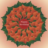 Geformte Glückwunschkarte der Blume Stockbild
