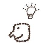 Geformte Kaffeebohnen des Lächelns Stockbild