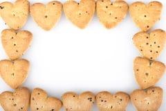Geformte Kekse des Herzens Stockbild