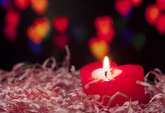 Geformte Kerze des Herzens Stockbild