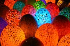 Geformte Lampen des bunten ovalen Eies Lizenzfreie Stockfotos