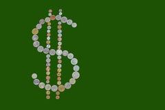 Geformte Münzen des Dollars Stockfotos