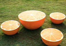Geformte Orange der Tabelle Stockfoto