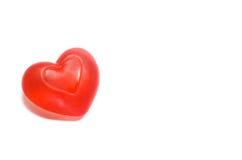 Geformte Seife des roten Herzens Lizenzfreie Stockfotografie