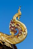 Geformte Skulptur traditionellen Nord-Thailand-Art Naga stockfoto