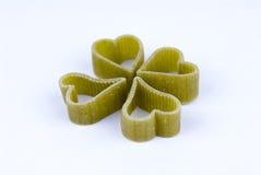 Geformte Teigwaren des grünen Herzens vier Lizenzfreies Stockfoto