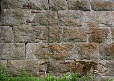 Geformte Wand Lizenzfreies Stockbild