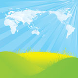 Geformte Wolken der Weltkarte Lizenzfreies Stockfoto