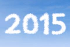 Geformte Zahl 2015 der Wolke Stockbild