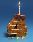 Geformter Geburtstagkuchen der Nr. vier Stockfotos