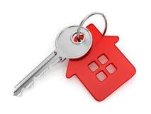Geformter Schlüsselanhänger des Hauses Stockfotografie