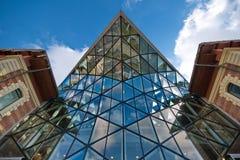 Geformtes Gebäude des modernen Wals Stockfotografie