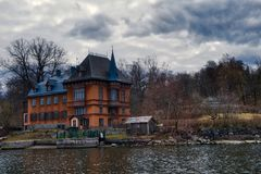 Geformtes Haus des Schlosses stockfotos