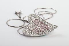 Geformtes pendent und Halskette des Inneren Lizenzfreies Stockfoto