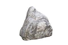 Gefotografeerd die steen op witte achtergrond 1 wordt geïsoleerd Stock Afbeeldingen