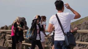 Gefotografeerd in geheugen de Vesuvius stock video