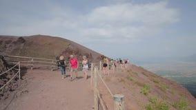 Gefotografeerd in geheugen de Vesuvius stock videobeelden