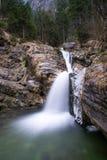 Gefotografeerde waterval in Kuhflucht met lange blootstelling Royalty-vrije Stock Fotografie