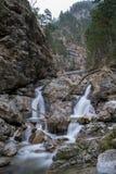 Gefotografeerde waterval in Kuhflucht met lange blootstelling Stock Afbeeldingen
