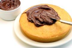 Gefrieren eines Kuchens Lizenzfreie Stockfotos