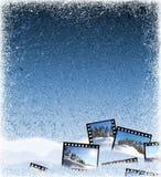 Gefrieren Sie Hintergrund mit Filmfeldern Lizenzfreies Stockfoto