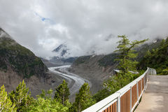Gefrieren Sie meeres- Mer de Glaces in Chamonix - Frankreich Stockbilder