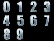 Gefrieren Sie numbes 0 1 2 3 4 5 6 7 8 9 Stockbilder