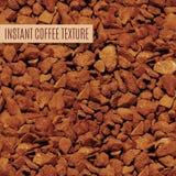 Gefriertrocknete Kaffeekörnchen Stockfoto