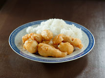 Gefrituurde Chinese kip met rijst Royalty-vrije Stock Fotografie