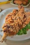 Gefrituurde Pijlinktvis stock afbeeldingen