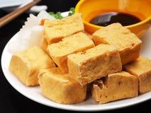 Gefrituurde tofu Royalty-vrije Stock Foto's