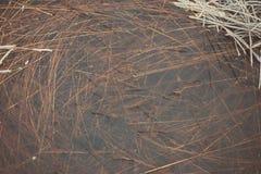 Gefrorene abstrakte Beschaffenheiten im Eis - gealtertes Foto Stockbild