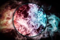 Gefrorene abstrakte Bewegung der Nahaufnahme des Explosionsrauches lizenzfreie abbildung