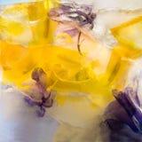 Gefrorene Blume von Iris Lizenzfreies Stockbild